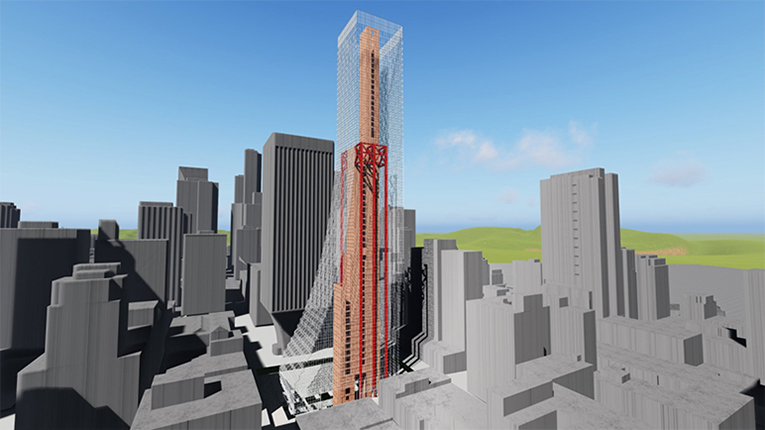 Steel Frame Towers : Modern steel construction
