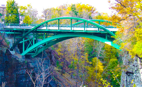 Thurston Avenue Bridge over Fall Creek