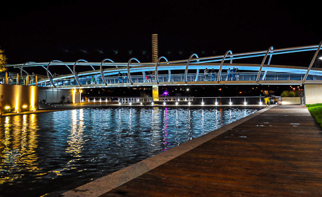 Pedestrian Bridge at the Yards Waterfront Park